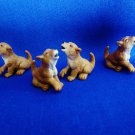 "Custom Set of 4 Realistic Wolve Cubs 1"" Mini Tree Ornaments"