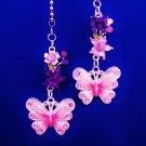 Butterfly Flower Nature Ceiling Fan Light Pull Chain Set N-32