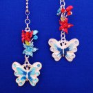 Butterfly Flower Nature Ceiling Fan Light Pull Chain Set H-24