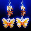 Butterfly Flower Nature Ceiling Fan Light Pull Chain Set R-33