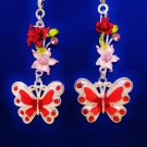 Butterfly Flower Nature Ceiling Fan Light Pull Chain Set A-72