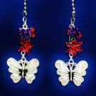 Butterfly Flower Nature Ceiling Fan Light Pull Chain Set W-11