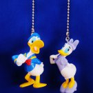 Set of 2 Donald and Daisy Duck Ceiling Fan Light Pull Chains