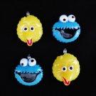 New Set of 4 Sesame Street Big Bird Cookie Monster Mini Tree Ornaments
