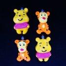 New Set of 4 Pooh Tigger Mini Tree Ornaments