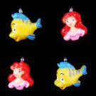 New Set of 4 Ariel Flounder Mini Tree Ornaments