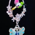 Colorful Bird Birdcage Nature Ceiling Fan Light Pull Chain