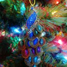 New Colorful Peacock Bird Nature Tree Ornament