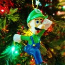 New Nintendo Super Mario Brothers Running Luigi Tree Ornament