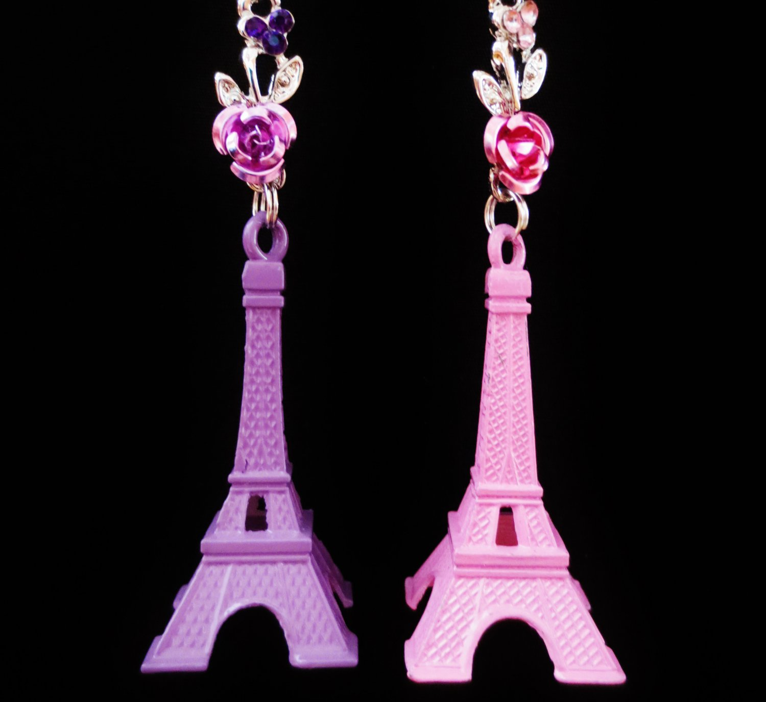 Eiffel Tower Paris Landmark Pink Purple Ceiling Fan Light Pull Chain