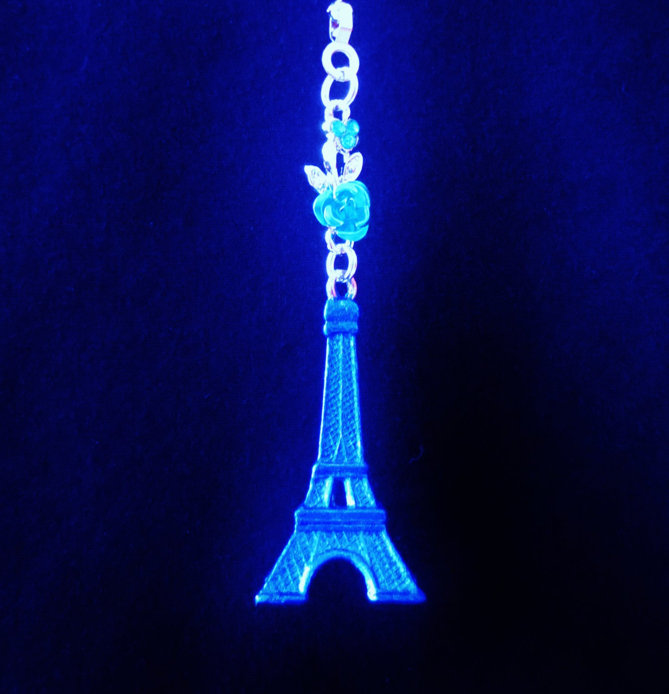 Eiffel Tower Paris Landmark Blue Ceiling Fan Light Pull Chain