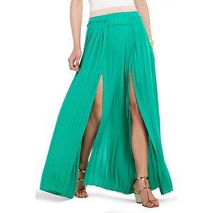 nwt bcbg maxazria dillion pleated panel emerald green