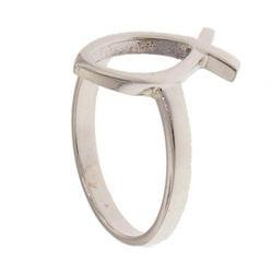 Sterling Silver Christian Fish Ring (size: 7.5)