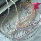Peach Oval Pearl Jewelry Set Lot