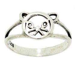 Sterling Silver Cat Ring (Size: 5.5)