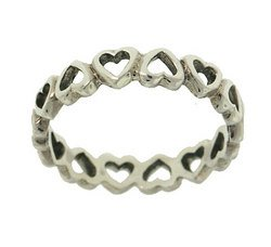 Sterling Silver Heart Ring (size: 7)