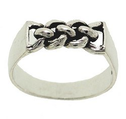 Sterling Silver Twisted Ring (size: 7)