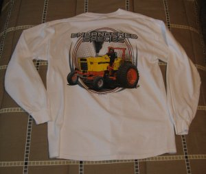 Med Kids White Long Sleeve Case Tractor T-Shirt