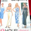 Simplicity 1 Hour Dress Pattern # 8869 Size XS, S, M