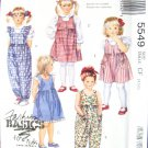 McCall's Fashion Basics for Kids Pattern #5549 Size CF 4,5,6
