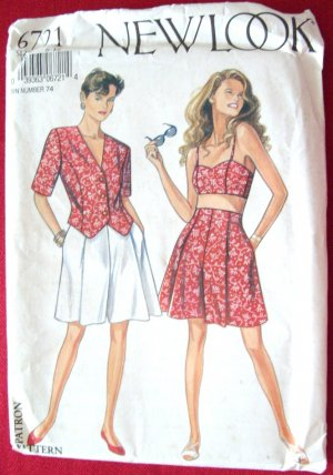New Look Sewing Pattern 6721 Size 6-16