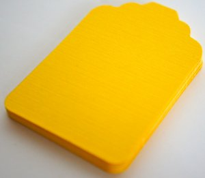 Die Cut Gift Journalling Hang Tags Paper Embellishment Yellow