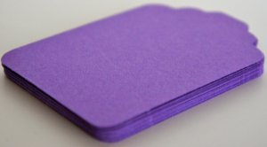 Die Cut Gift Journalling Hang Tags Paper Embellishment Purple