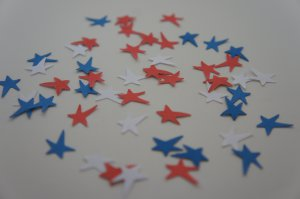 Star Red White Blue Patriotic Punchies Punch Scrapbook & Card Making