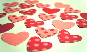 Heart Polka Dot Red Pink Die Cut Out Embellishment Valentine