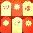 Valentine Heart Flower Gift Hang Tag Journaling Embellishment
