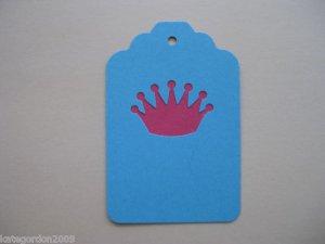 Princess Gift Tags Handmade Set of 12 Journaling Tag