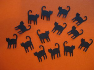 Black Cat Paper Punches Cut Outs Halloween Qty 50