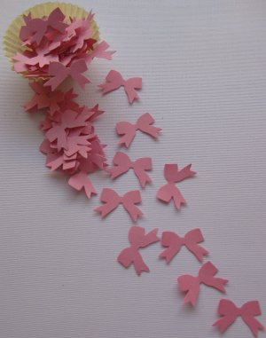 Bow Punchies Die Cut Confetti Party Lot of 50