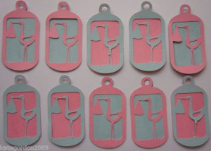 Baby Shower Stork Scrapbooking Hang Gift Tags Lot of 10