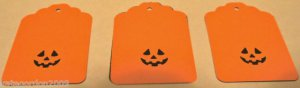 Halloween Gift Tags Pumpkin Jack-o-lantern Scrapbook Embellishment Tag Lot