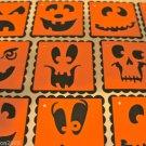 "Halloween Gift Tags Pumpkin Jack O Lantern 2"" Square Scrapbook Embellishment Tag"