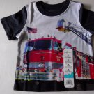 Jumping Beans Baby Boy Fire Engine Truck Polo Shirt 6 or 9 Months NWT Navy Blue