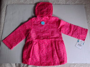 Carter's Baby Girl Coral Double Breasted Rain Jacket Slicker 24 Months NWT