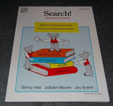 1987 Search! 124 Activity Cards Reference Skills Teacher Home School Resource