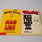 2 Vintage Wacky Mad Libs Books Unused III Sports Educational Party Travel School