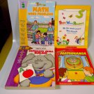 Lot of 4 Preschool Elementary School Math Reading Home School Resource Workbook