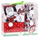 Disney Baby Girl Minnie Mouse 5 Piece Layette Set 0-6 Months Bodysuit Pants Bibs