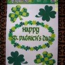 WINDOW CLING LEPRECHAUN IRISH IRELAND HAPPY PATRICK 001