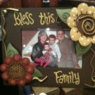 BLESS THIS FAMILY BLESSINGS WOOD PHOTO FRAME NEW