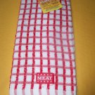 NEW KOSHER KITCHEN TOWEL RED MEAT JUDAICA