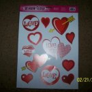 WINDOW CLING LOVE HEART CUPID VALENTINES DAY