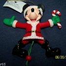 DISNEY CHRISTMAS TREE ORNAMENT SANTA MOUSE MICKEY NEW