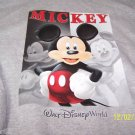 DISNEY SWEAT SHIRT JACKET MICKEY ZIPPERED L LARGE HOOD