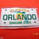 472 FL FLORIDA REFRIGERATOR MAGNET ORANGE PLATE