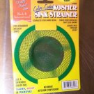 NEW KOSHER KITCHEN SINK STRAINER GREEN PAREVE  JUDAICA